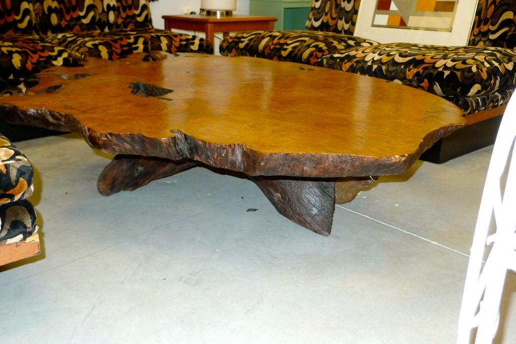 massive redwood burl root table at 1stdibs. Black Bedroom Furniture Sets. Home Design Ideas
