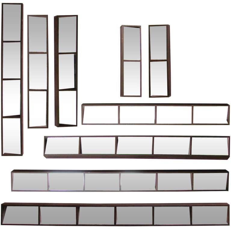 Set Of 9 Slim Box Framed Mirrors For Wall Collage At 1stdibs