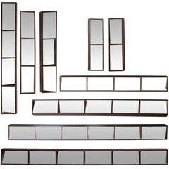 Set of 9 Slim Box Framed Mirrors for Wall Collage