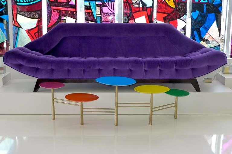 Gondola Sofa in Purple Velvet by Adrian Pearsall 6