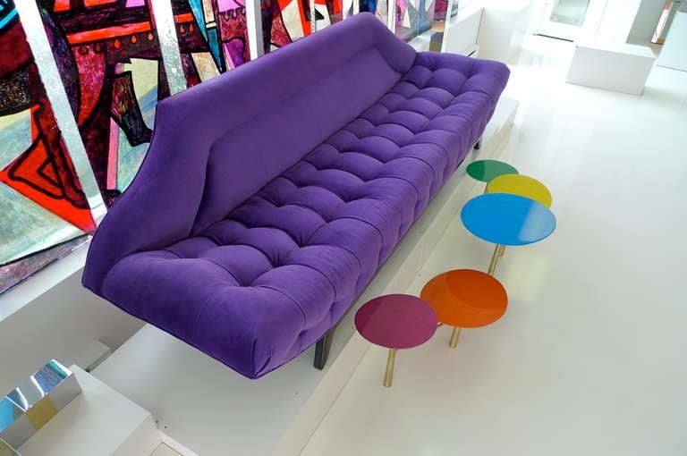 Gondola Sofa in Purple Velvet by Adrian Pearsall 3