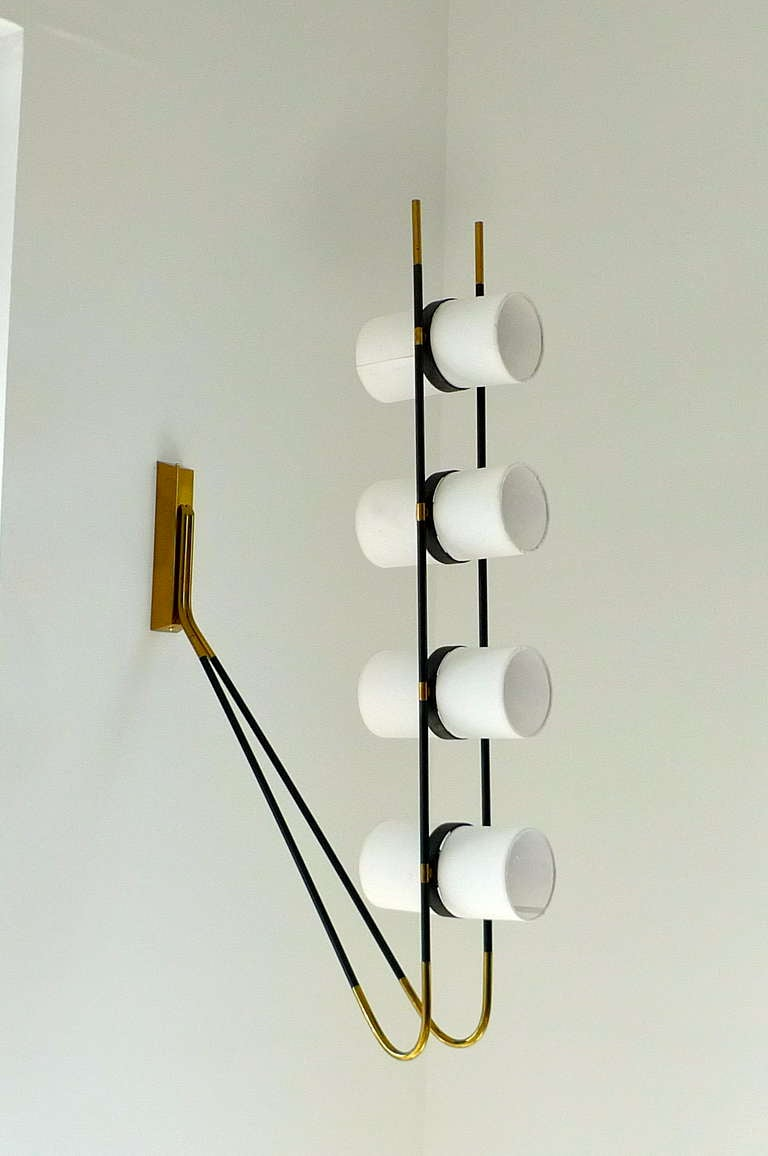 French 1950's Wall or Ceiling Lamp by Royal Lumiere for Lunel For Sale 2