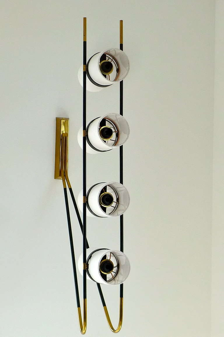 French 1950's Wall or Ceiling Lamp by Royal Lumiere for Lunel In Excellent Condition For Sale In Hingham, MA