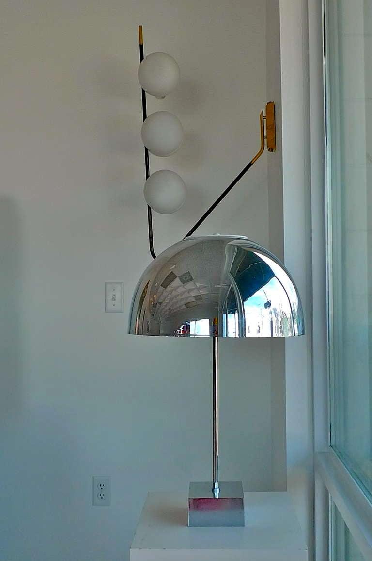 Paul Mayen Chrome Dome Table Lamp for Habitat For Sale 4