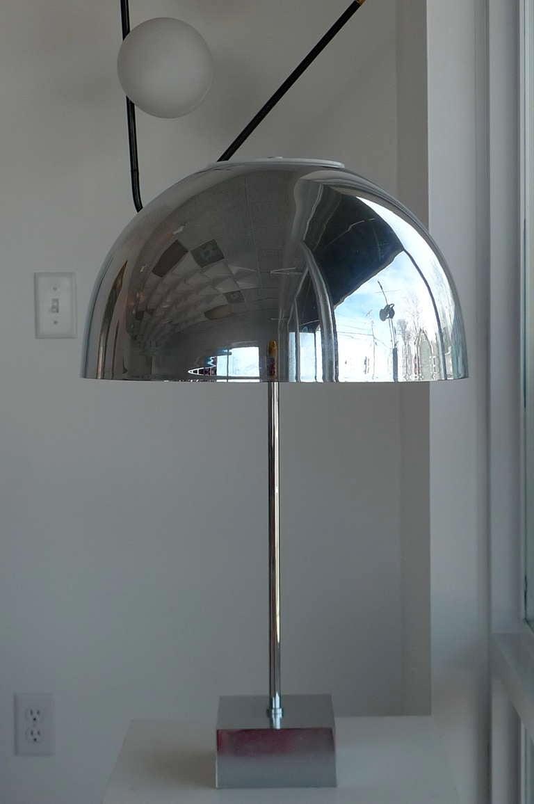 American Paul Mayen Chrome Dome Table Lamp for Habitat For Sale