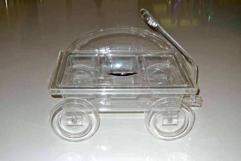 Vintage Lucite Catering Wagon At 1stdibs