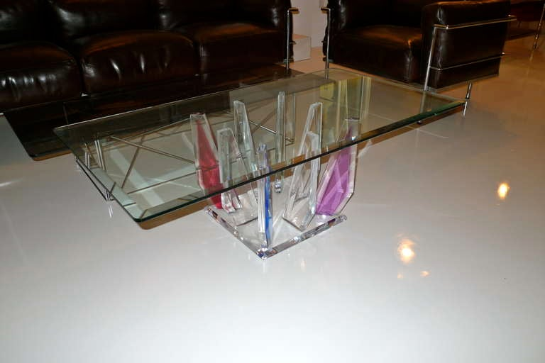 Multi-Color Lucite Stalagmite Cocktail Table 5