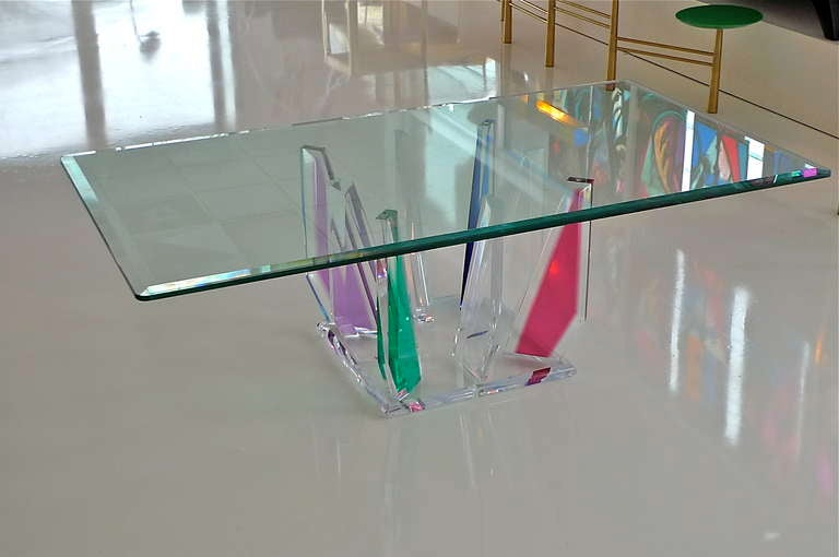 Multi-Color Lucite Stalagmite Cocktail Table 2