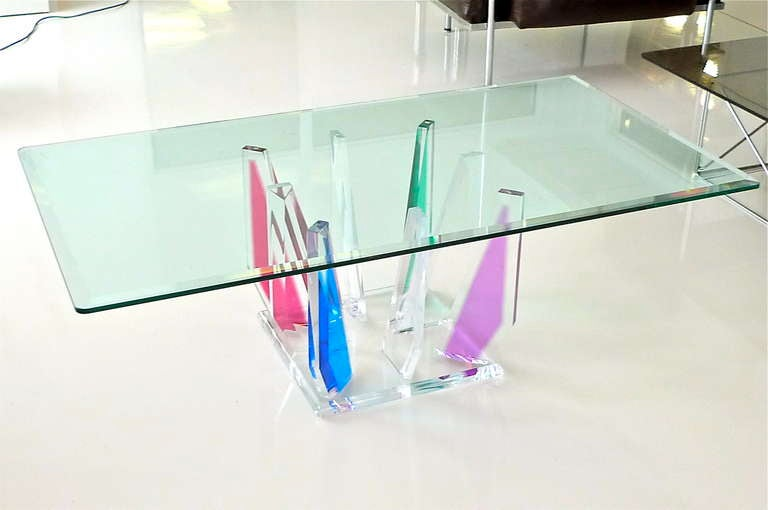 Multi-Color Lucite Stalagmite Cocktail Table 4
