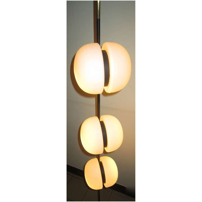 Mid-Century Modern French 1950's 6 Globe Wall or Ceiling Lamp by Lunel For Sale