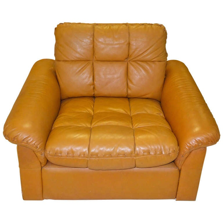De Sede 1970's Leather Club Chair For Sale