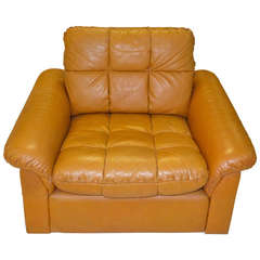 De Sede 1970's Leather Club Chair