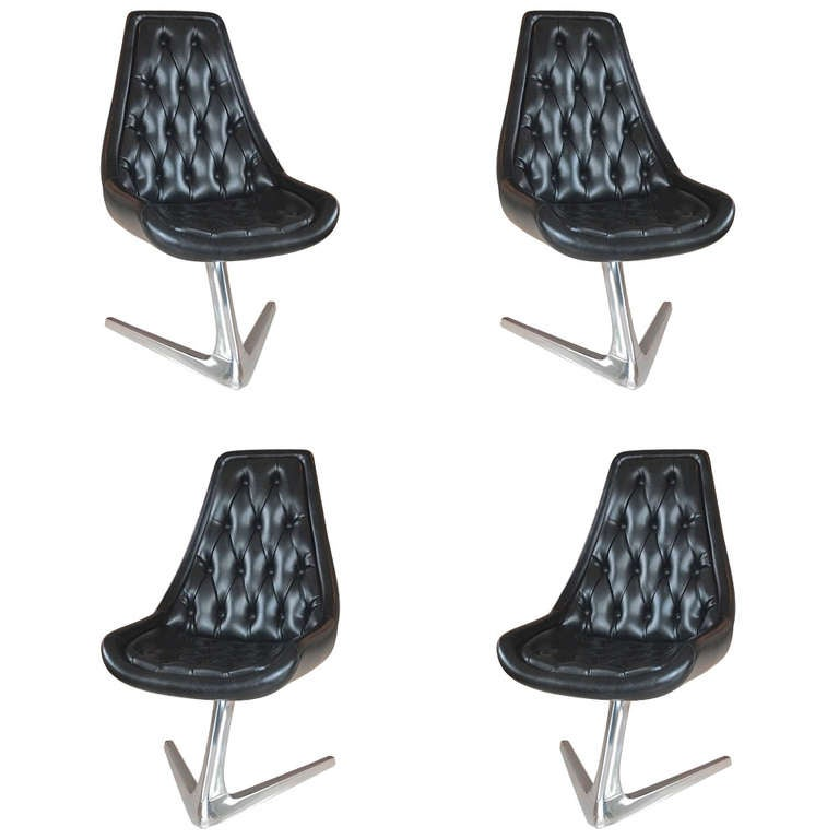 Delightful Set Of 4 Sculpta U0027Star Treku0027 Swivel Chairs By Chromcraft ... Pictures Gallery
