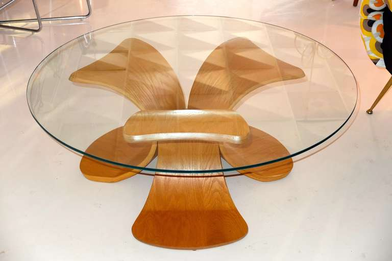 Vintage Bent Plywood Cocktail Table For Sale At 1stdibs
