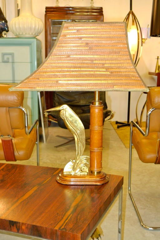 French 1950's Bamboo Table Lamp For Sale 3