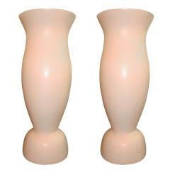 Pair of Monumental Vase Form Floor Lamps (Indoor/Outdoor)