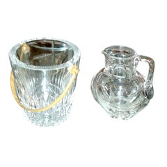 Vintage Baccarat Ice Bucket and Water Pitcher