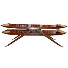 1950's Sculptural Italian Bi-Level Cocktail Table
