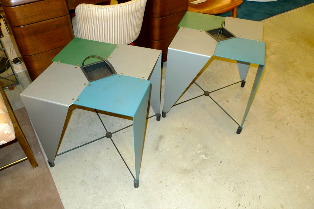 20th Century Pair of Harlequin Tables For Sale