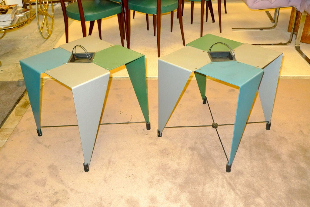 Pair of Harlequin Tables For Sale 1