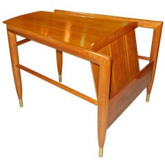 Magazine Wedge Table by John Keal for Brown Saltman