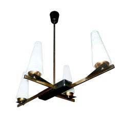 French 1950's Cruciform Chandelier by Arlus