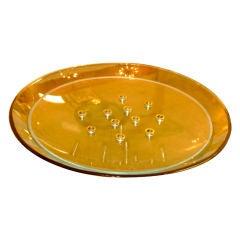 Large Fontana Arte Style Cut Flower Bowl Centerpiece