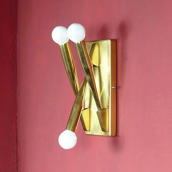 Pair of Brass Sconces attributed to Gio Ponti For Sale 3