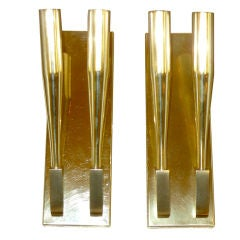 Pair of Brass Sconces attributed to Gio Ponti