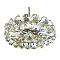 Faceted Crystal Round Chandelier