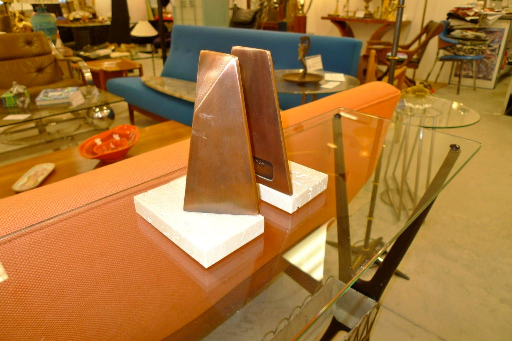 Pair of Sculptural Bookends by William Macowski For Sale 1