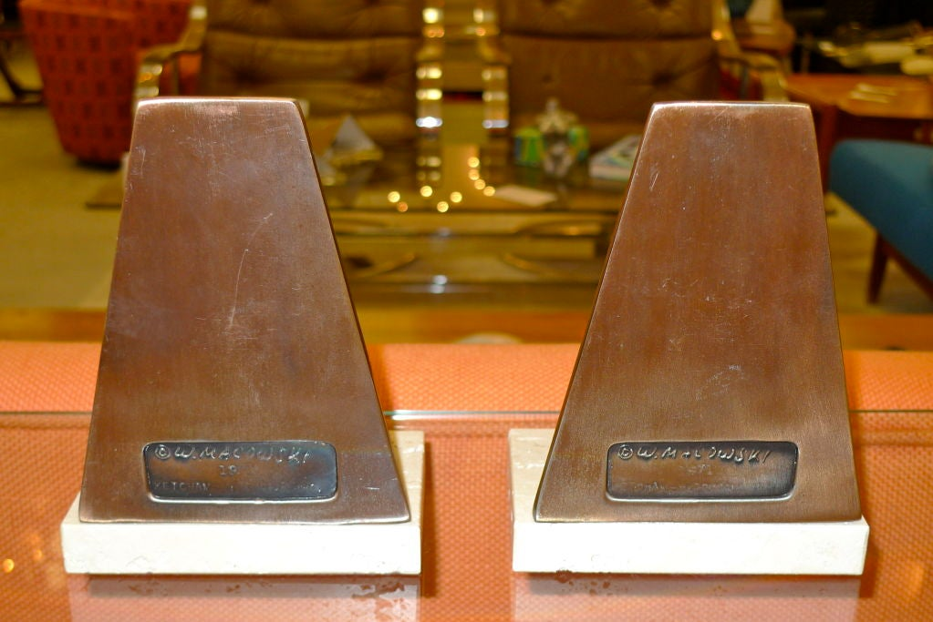 Pair of Sculptural Bookends by William Macowski For Sale 3