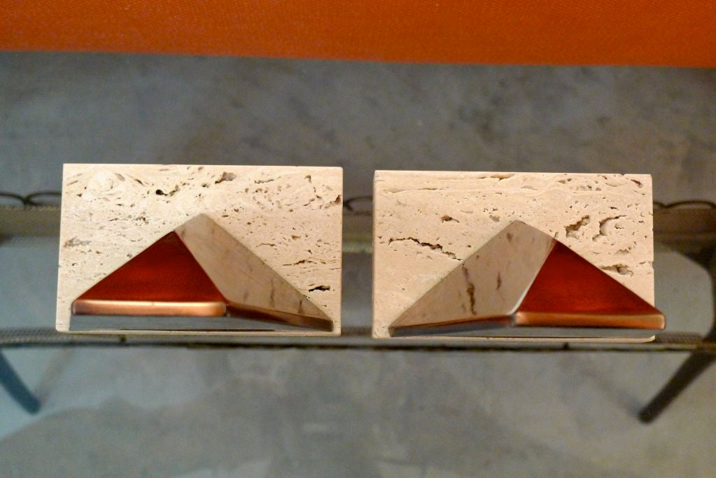 Pair of Sculptural Bookends by William Macowski For Sale 6