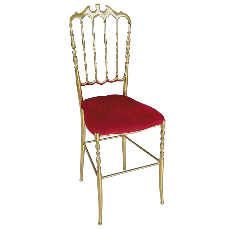 Solid Brass Chiavari Chair at 1stdibs