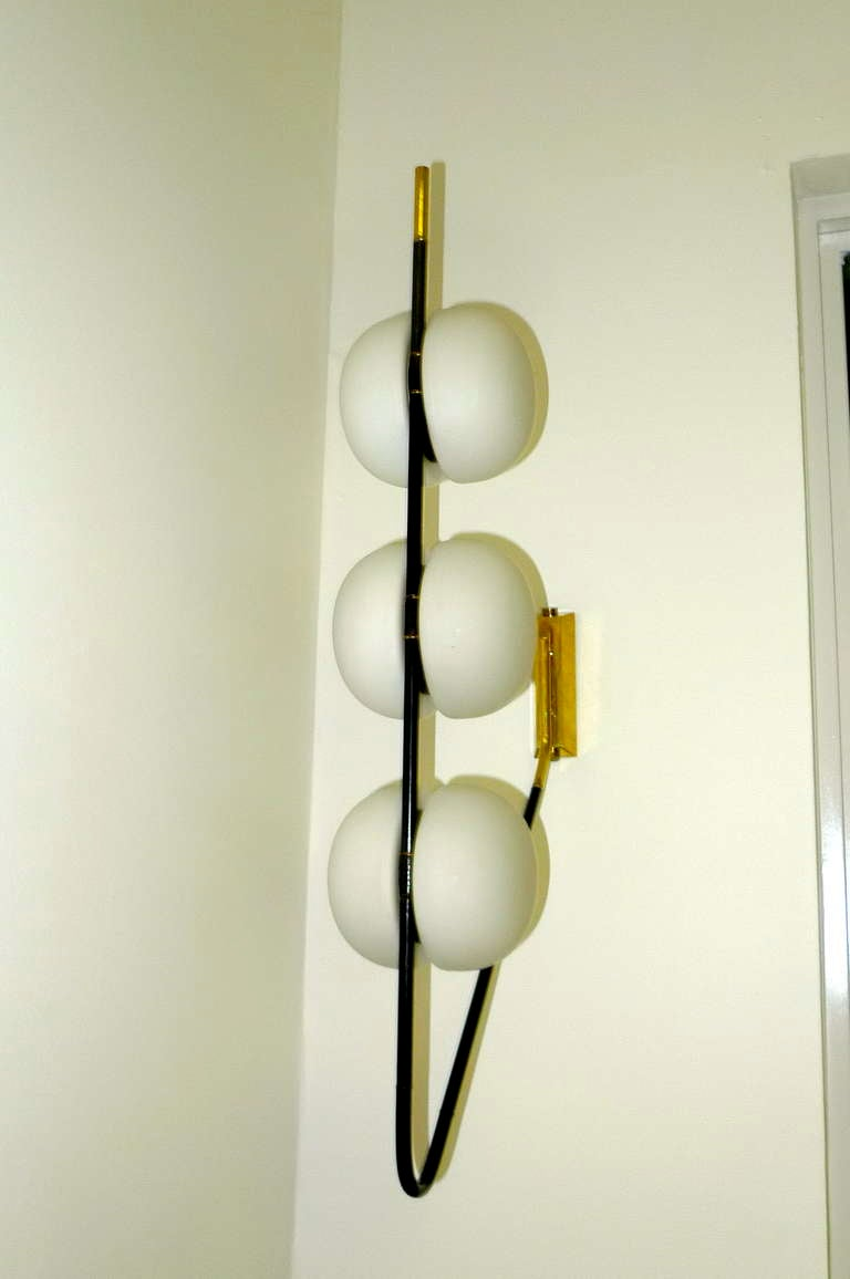 French 1950's 6 Globe Wall or Ceiling Lamp by Lunel For Sale 2