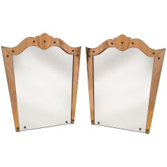 Pair of 1950's Mirrors by Cristal Arte, Turin