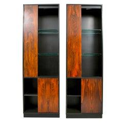 Pair of Harvey Probber Display & Storage Cabinets