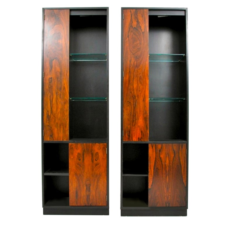 Pair Of Harvey Probber Display And Storage Cabinets At 1stdibs
