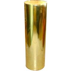 Curtis Jere Brass Pedestal, Signed