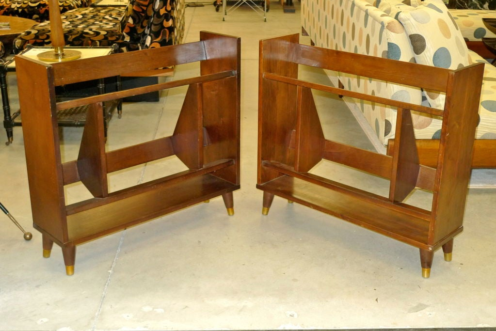 American Pair of Small Modernist Book Shelves For Sale
