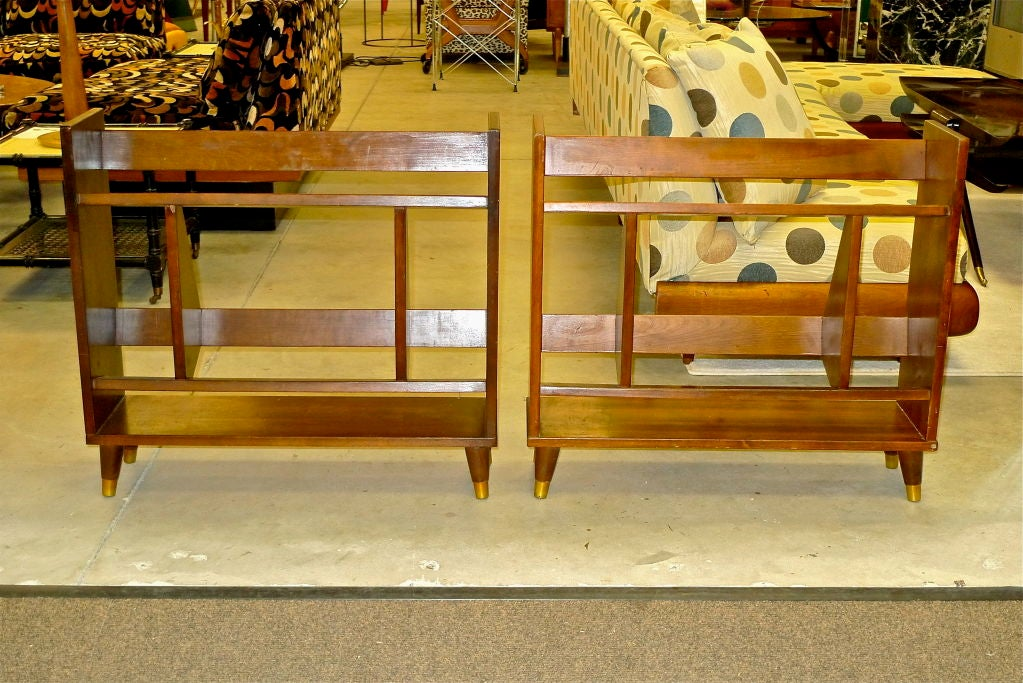 Pair of Small Modernist Book Shelves In Good Condition For Sale In Hingham, MA