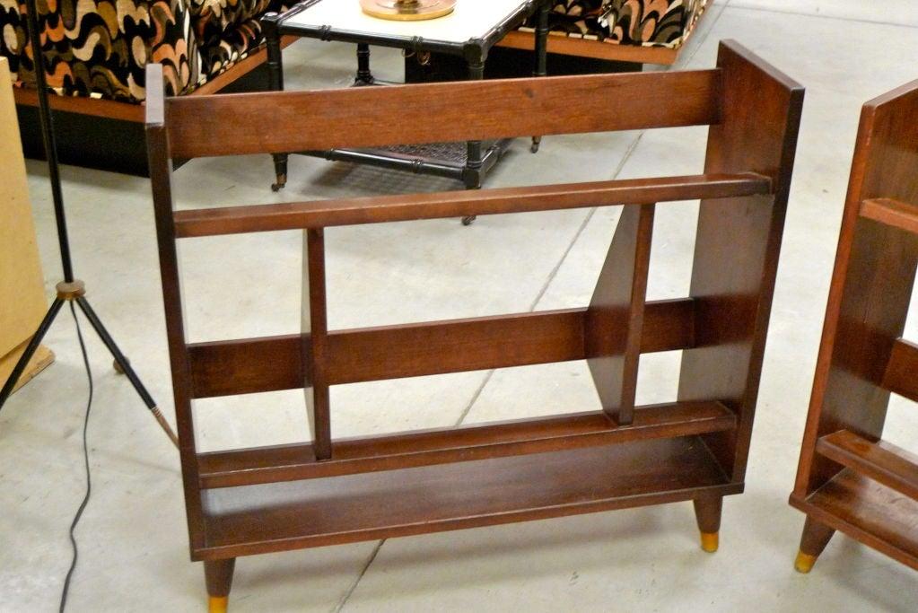 Walnut Small Modernist Book Shelf For Sale