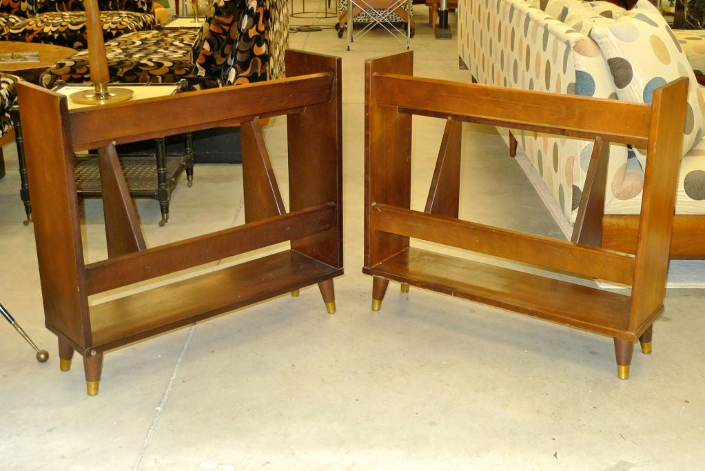 Pair of Small Modernist Book Shelves For Sale 3