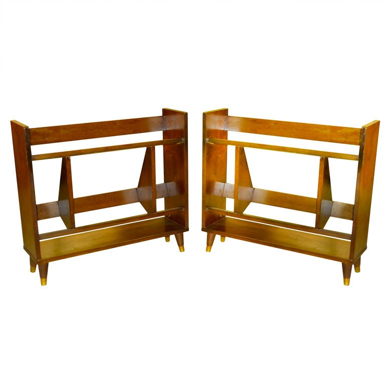 Pair of Small Modernist Book Shelves For Sale