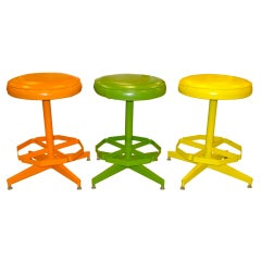1960's Cal-Style Swivel Stools