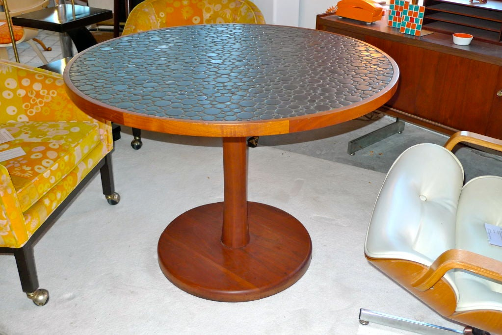 Ceramic Pebble Tile Top Dining Table by Gordon Martz For Sale at ...