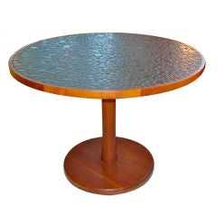 Aquamarine Mosaic Tile Dining Table Attributed to Gordon Martz