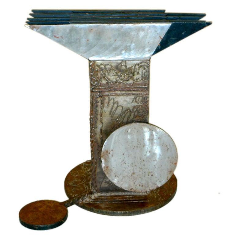 Sculptural Iron Metal Craft Table Base