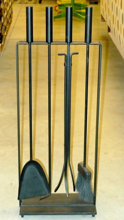 1950's Vintage Modern Fireplace Tools by Pilgrim For Sale at 1stdibs