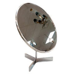 Owen Thomas for Durlston Designs Round Chrome Vanity Mirror